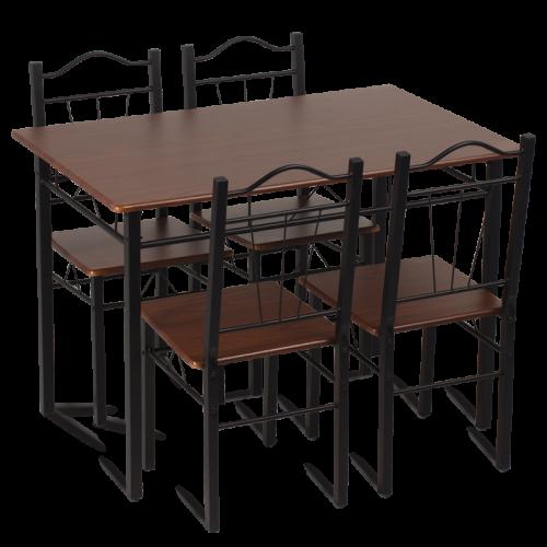 Трапезна маса с 4 стола правоъгълна