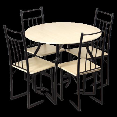 Трапезна маса с 4 стола кръгла